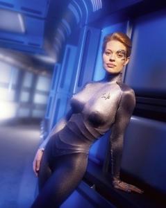 Jeri Ryan som Seven of Nine i Star Trek Voyager