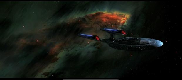 Enterprise D är extra uppiffat till den här filmen