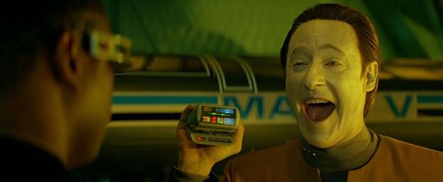 Data blir tokig, i Star Trek Generations