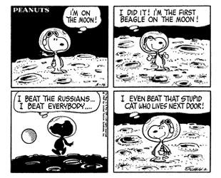 Snoopy landar på månen