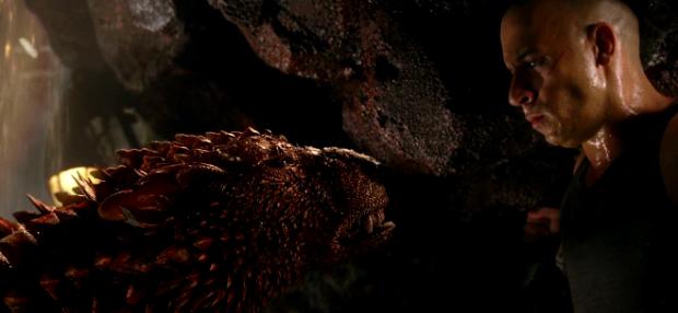Riddick träffar nån som morrar lika mycket som han