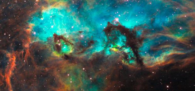 Stjärnor föds i en nebulosa (NASAs bild)