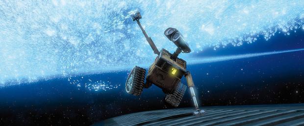 Wall-E sticker handen i Saturnus ringar