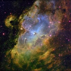 The Pillars of Creation, ett foto från Hubble