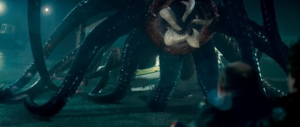 Grabbersmonstret liknar den stora Facehuggern från Prometheus mer än bara lite