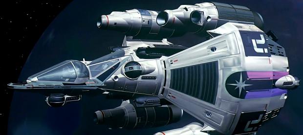 Gunstar, designad av Ron Cobb är ett av filmhistoriens helt datoranimerade skepp, som nu i blurayversionen kommer till sin rätt i 3000 x 5000 px upplösning