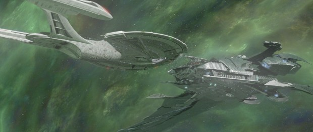 Enterprise-E vs Scimitar