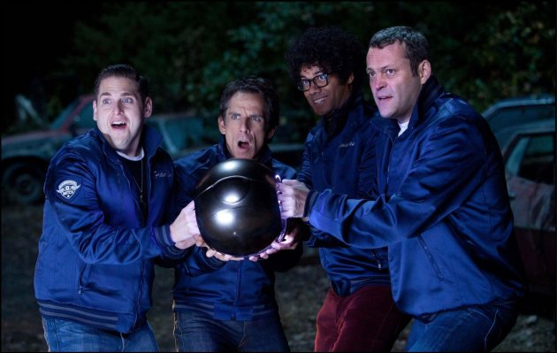 Jonah Hill, Ben Stiller, Vince Vaughn och Richard Ayoade är The Watch (Seth Rogen utanför bild)