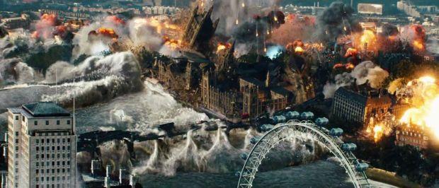 Det här händer med London då en wolframstav slår ned.