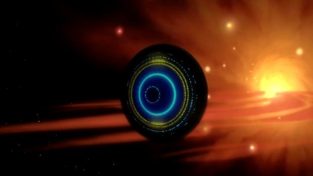 Det dröjer länge innan det dyker upp, men det är ett högklassigt rymdskepp