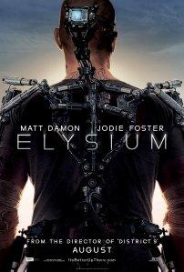 Första postern för Elysium visar en teknologiskt förbättrad Matt Damon