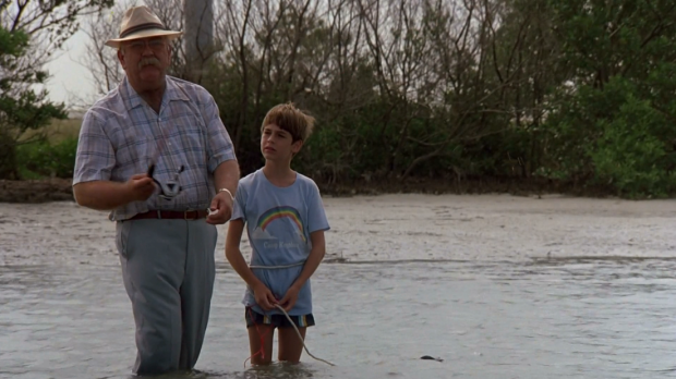 Wilford Brimley är den tredje gubben, här med sin dotterson, spelad av Barret Oliver från Den oändliga historien