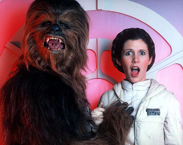 Chewbacca och Leia