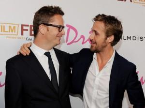 Winding Refn och Gosling vid premiären av Drive