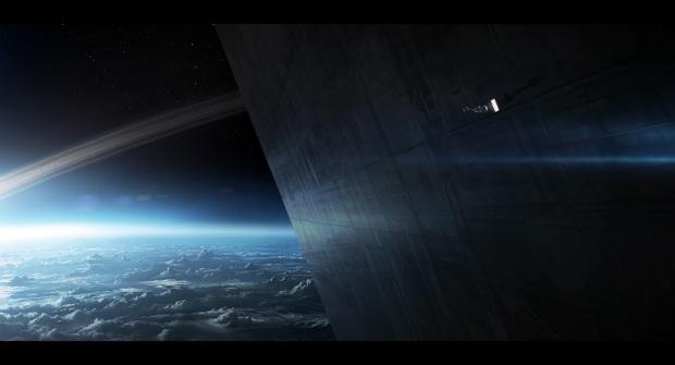 Tet är mänsklighetens mäktiga rymdstation i omloppsbana kring Jorden. Eller?