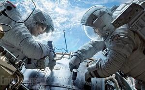 Gravity med Sandra Bullock och George Clooney