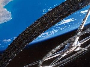 En Standford Torus är en ringformad rymdstation