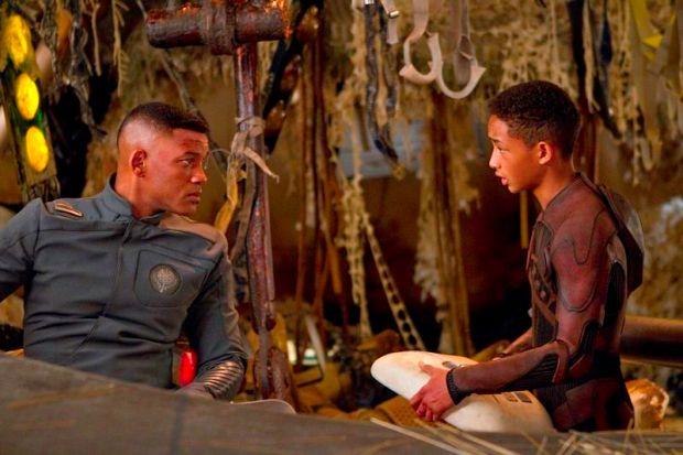 Will och Jaden i After Earth