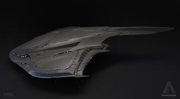 Konceptskiss till skeppet som kraschar i After Earth. Naturformerna är tydliga