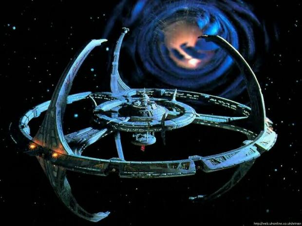 Maskhålet och rymdstationen