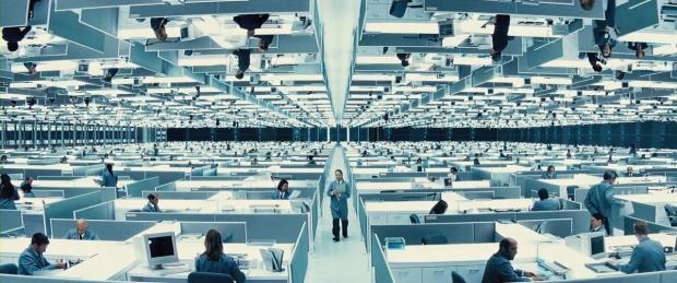Kontorslandskap i TransWorld-skyskrapan