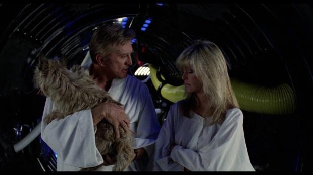 Kirk Douglas och Farrah Fawcett i Saturn 3