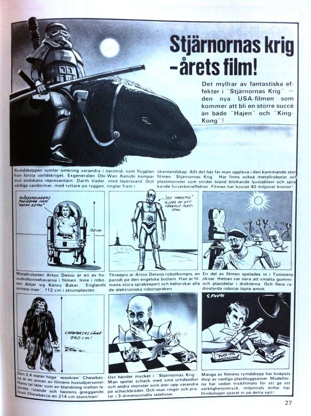 Stjärnornas Krig i Teknikens under, nr 3 1978