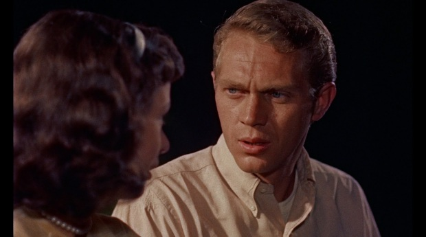 Steve McQueen i The Blob 1958, en av de första rollerna