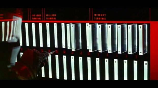HAL 9000 och dess minnespaneler