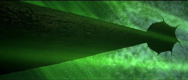 Vampyrernas rymdskepp är designat för att suga livskraft från planetens yta