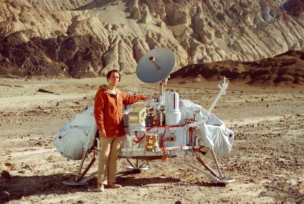 Carl Sagan med rymdsonden Viking