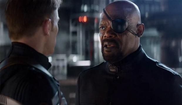 Samuel L Jackson som Nick Fury