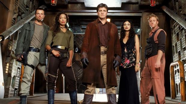 Besättningen på Serenity i Firefly