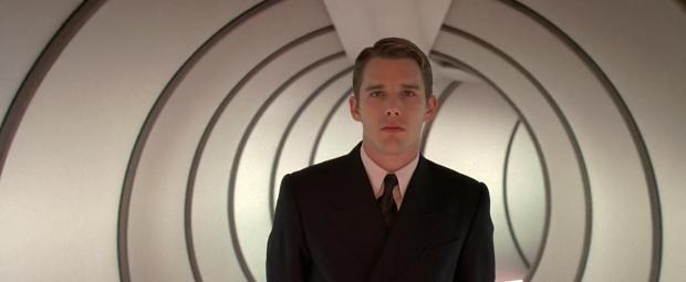 Vincent (Ethan Hawke) drömmer om att bli astronaut, i Gattaca