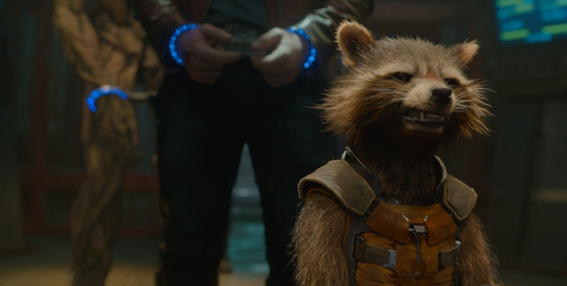 Rocket Racoon (Bradley Cooper) är filmens hårding i Guardians of the galaxy