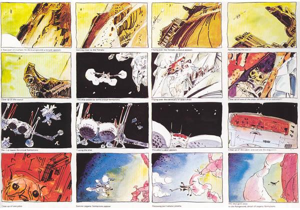 Moebius Dune storyboard