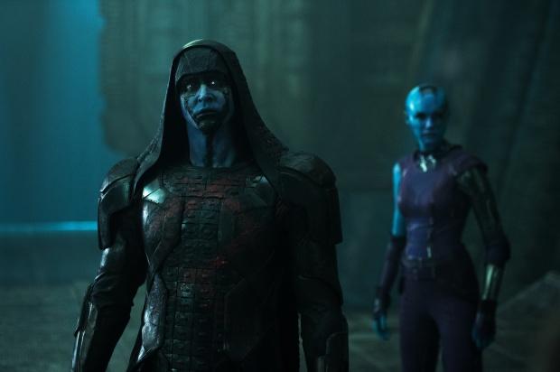 Ronan (Lee Pace) och Nebula (Karen Gillan)