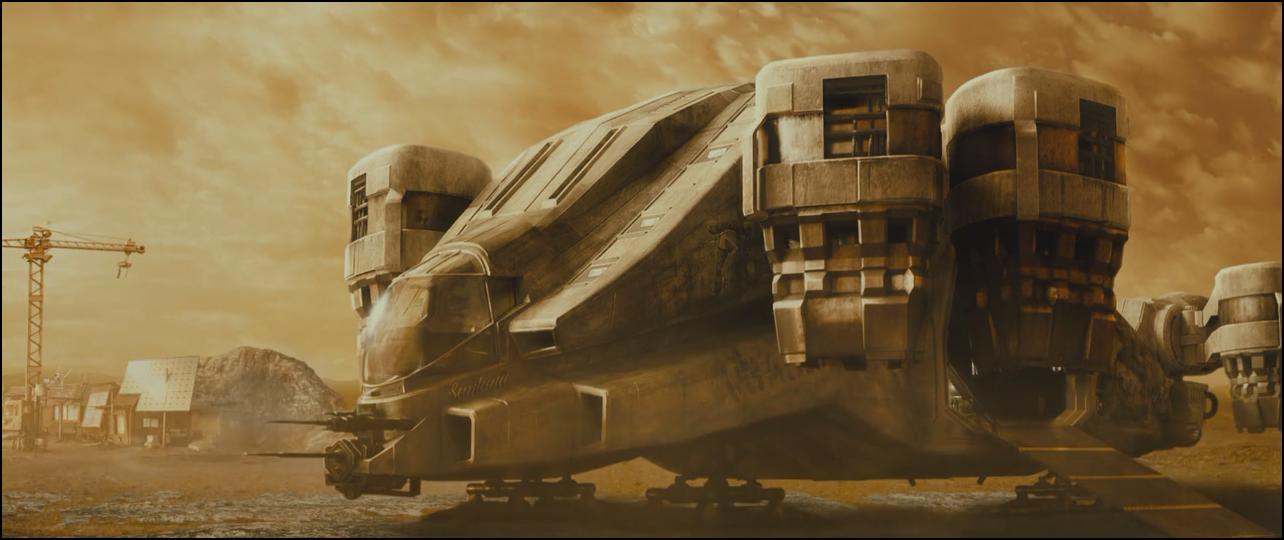 Flyg rymdskepp fran nya star wars filmen