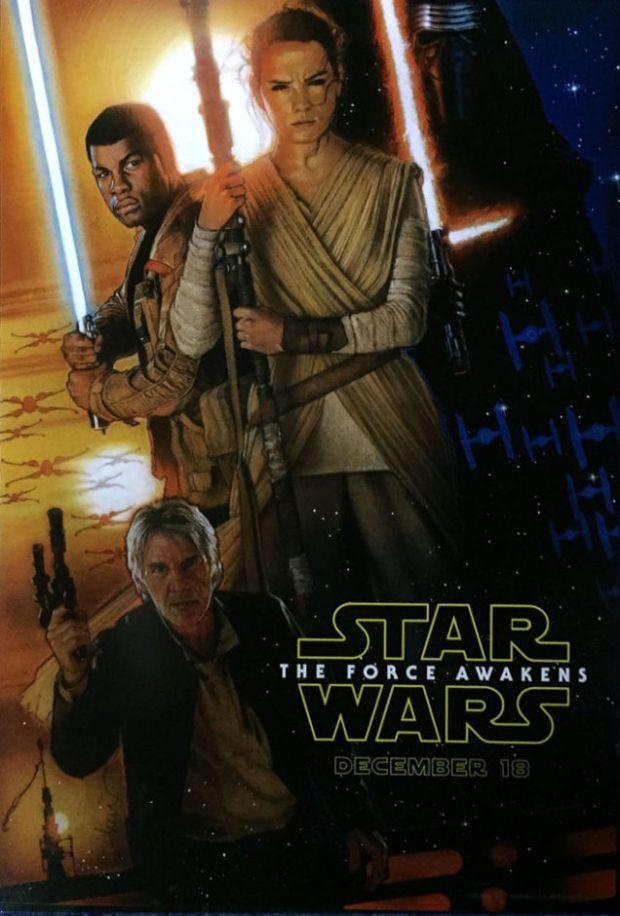 Poster för Star Wars The Force Awakens
