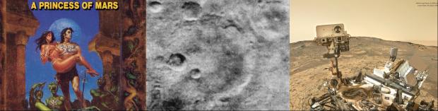 Mars i vår fantasi: ER Burroughs A Princess of Mars, den första närbilden på Mars 1963, och en robotselfie från NASAs Marsrover