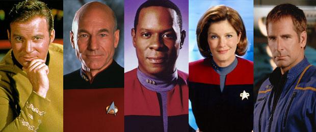 Kaptenerna från tidigare Star Trekserier